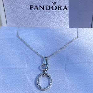 Pandora Knotted Heart Necklace